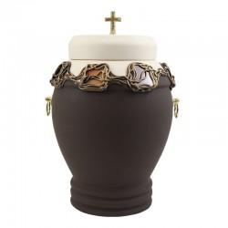 Ceramic urn Brown-10